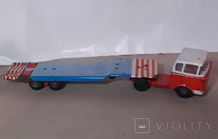 Машина грузовик+прицеп SpecialtransportMS Brandenburg ГДР GDR 1960-е жесть жестяная, СССР, фото №5