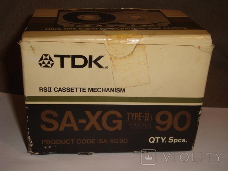 Коробка от кассет TDK SA -XG90, фото №3