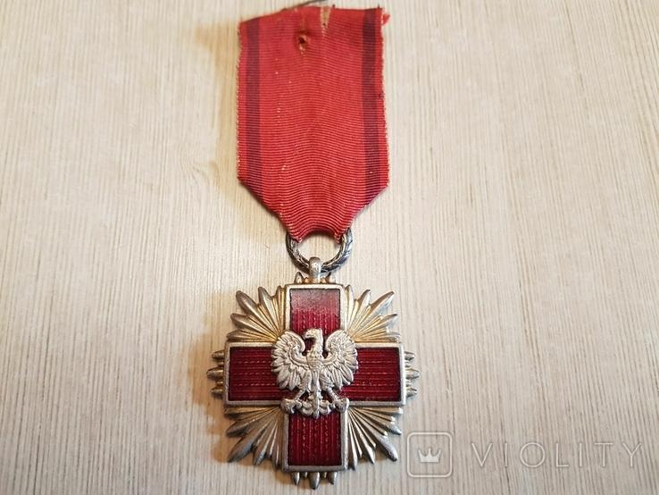 """Крест """"Заслуги Польского Красного Креста"""" 1-го класса, фото №2"""