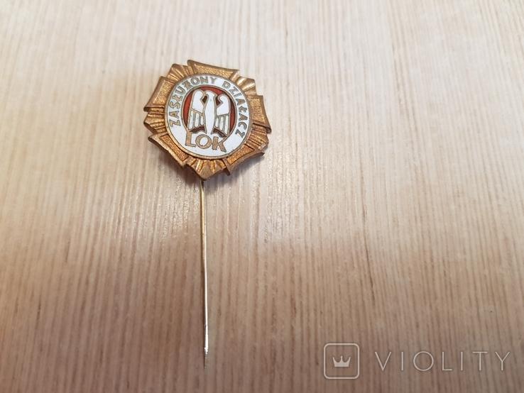 """Фрачник знака """"Лига защиты страны"""" в бронзе, фото №2"""