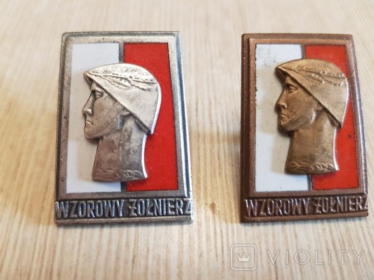 Отличный солдат в серебре и бронзе (малые), фото №2