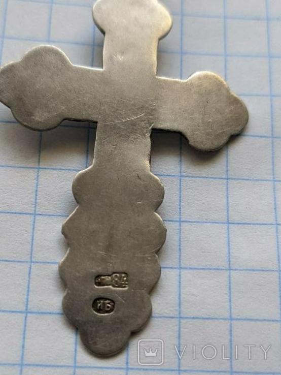 Крестики нательные 19 век серебро и золото, фото №3