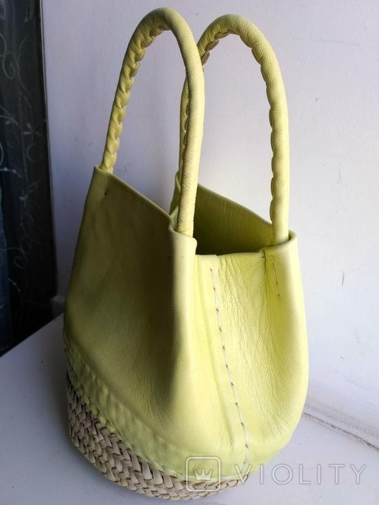 Эко-сумка плетёная, и натуральной кожи., фото №10