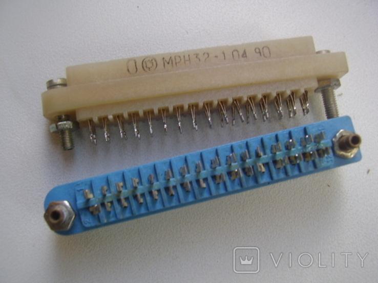 Роз'єм МРН-32-1 (розетка) 50шт сині, фото №4