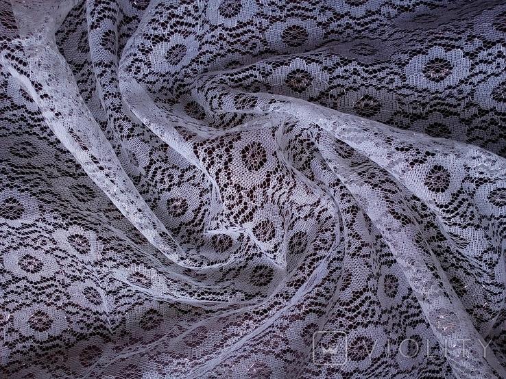 Отрез кружевной ткани винтаж 0,9х2,5 м, фото №2
