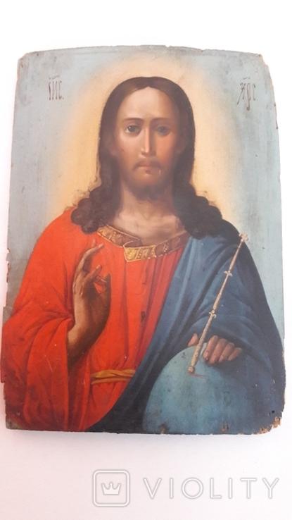 Старинная икона.Иисус Христос., фото №2