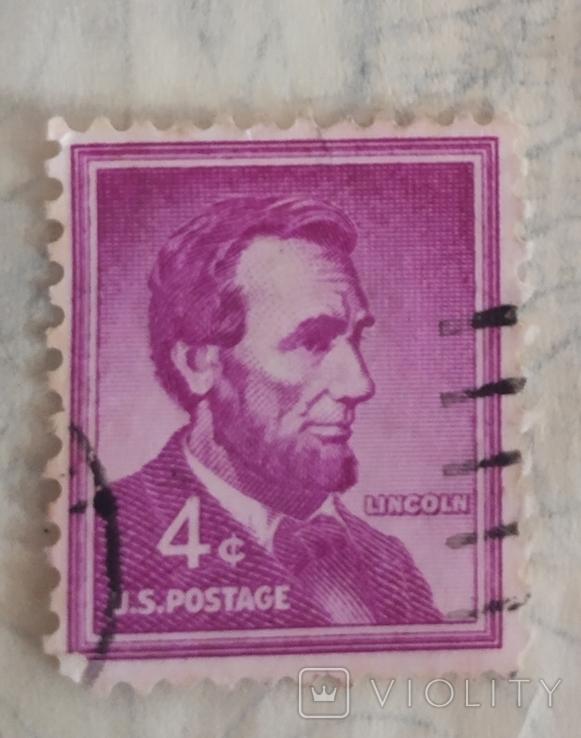 Абрам Лінкольн 4 центи 1965 року