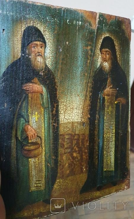 "Икона ""Зосим и Саватий "", фото №6"