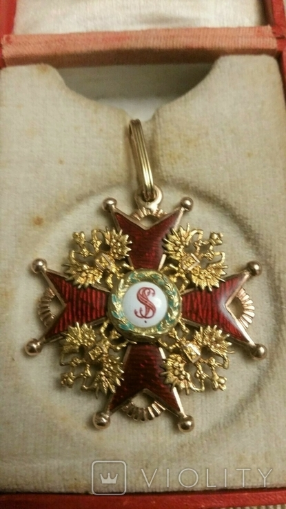 Орден Святого Станислава III cтепени. В футляре., фото №2