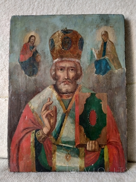 Икона Николая чудотворца, фото №2