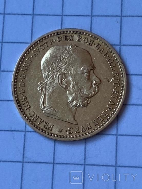 Австро-Венгрия 10 корон 1896 г., фото №2