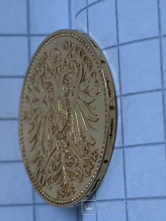 Австро-Венгрия 10 корон 1896 г., фото №5