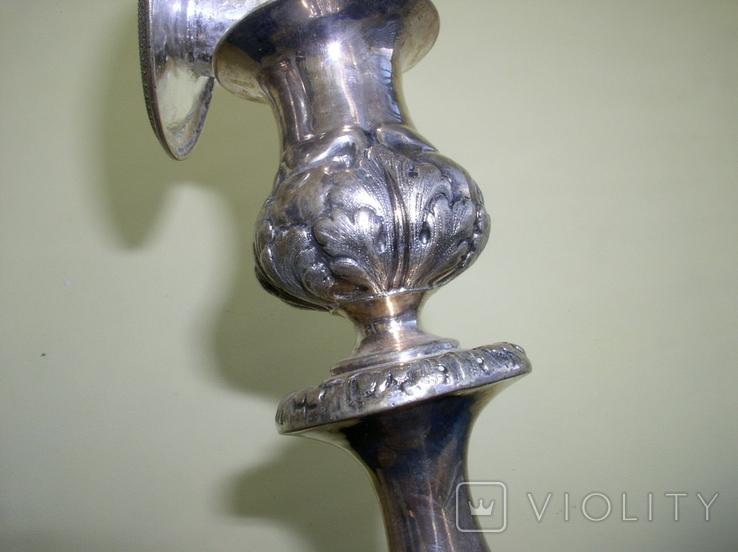 Два підсвічники ,срібло 84 пр,Одесса., фото №5