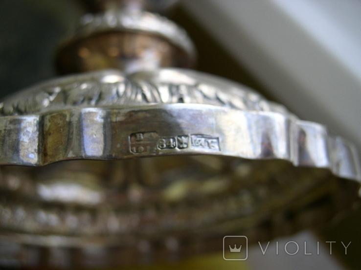 Два підсвічники ,срібло 84 пр,Одесса., фото №7