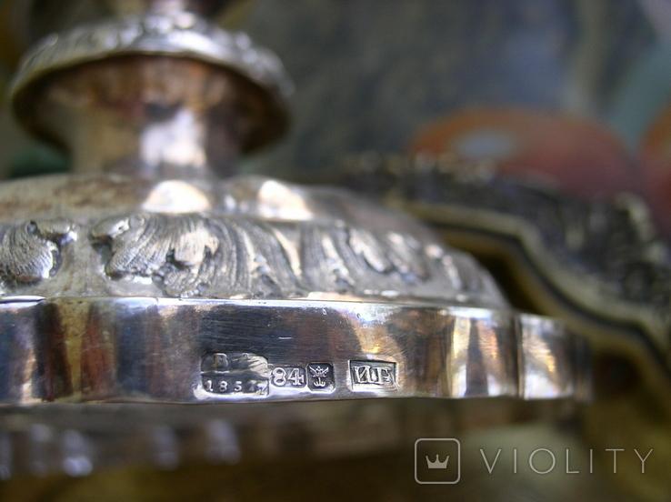 Два підсвічники ,срібло 84 пр,Одесса., фото №8