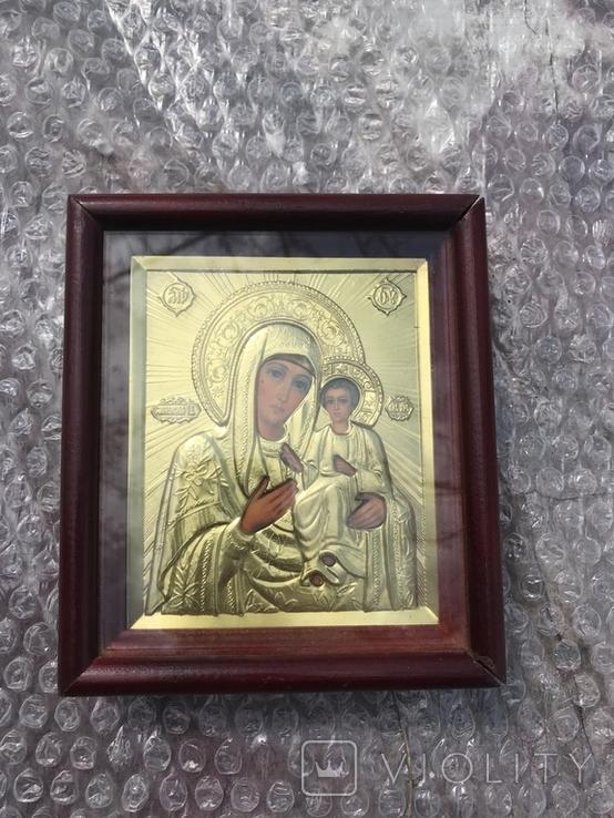 Икона Богородицы 16х14, фото №2