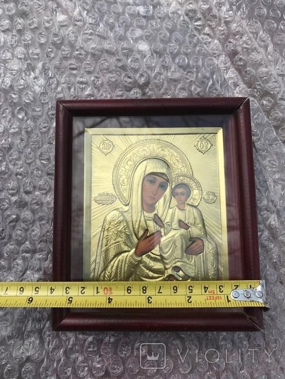 Икона Богородицы 16х14, фото №7