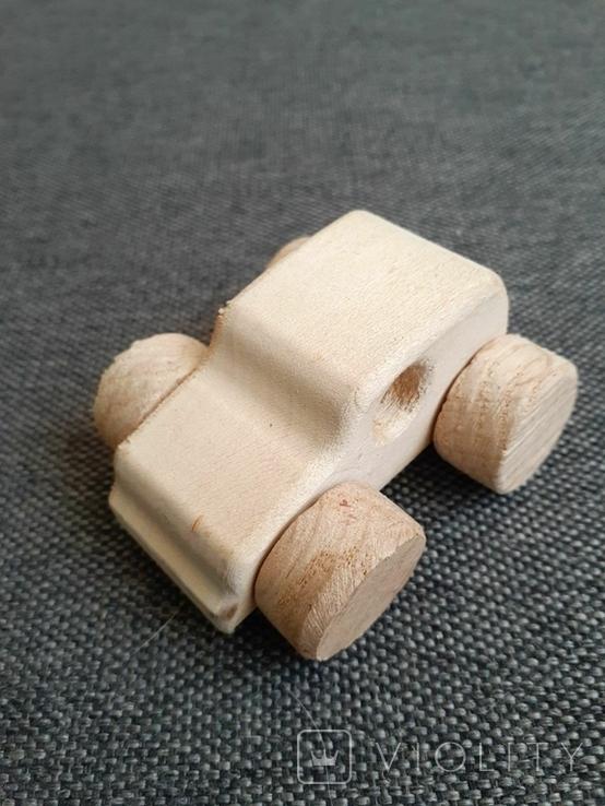 Машинка игрушка дерево самодельная, фото №2