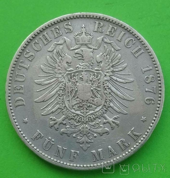 5 марок, 1876 год, Саксония., фото №9