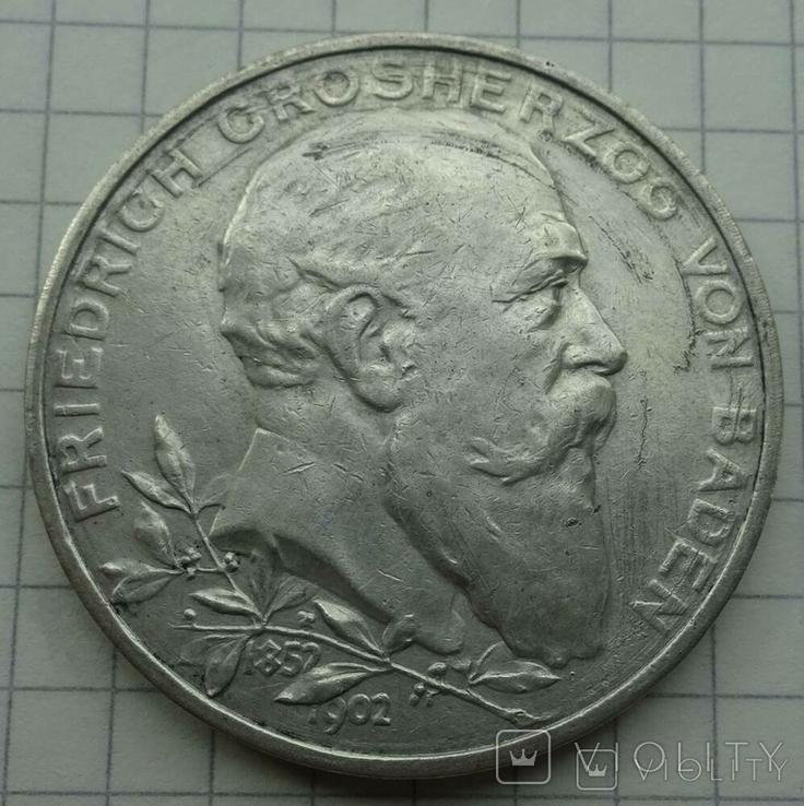 5 марок, Баден (Германия), 1902 год., фото №2