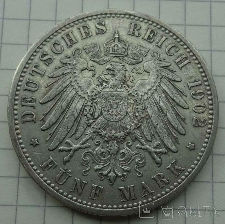 5 марок, Баден (Германия), 1902 год., фото №6