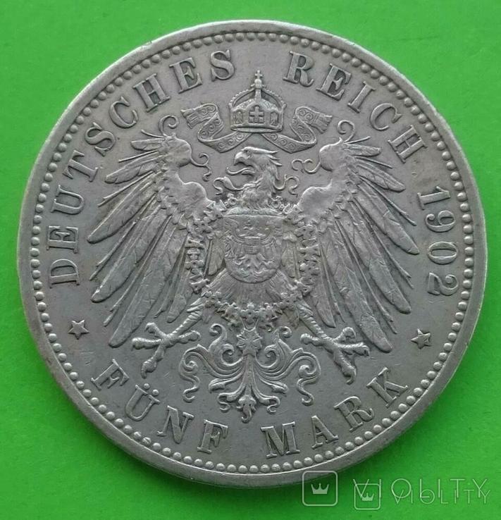 5 марок, Баден (Германия), 1902 год., фото №7