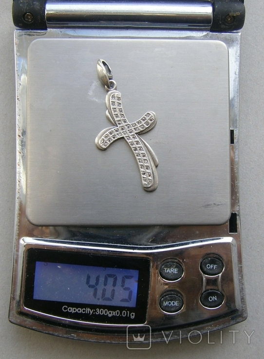 Крестик. Серебро 925 пр. Вес - 4,05 г., фото №2