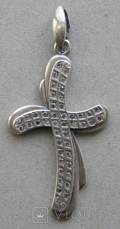 Крестик. Серебро 925 пр. Вес - 4,05 г., фото №3