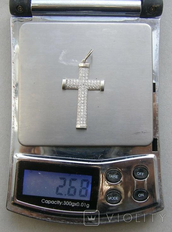 Крестик. Серебро 925 пр. Вес - 2,68 г., фото №2