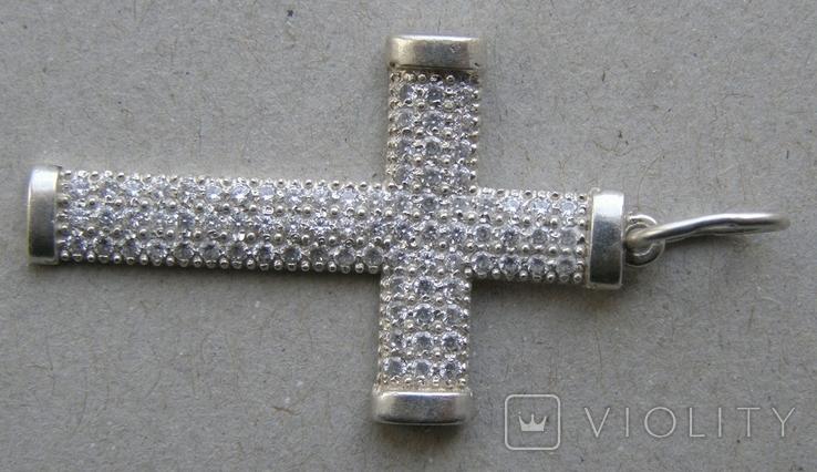 Крестик. Серебро 925 пр. Вес - 2,68 г., фото №5