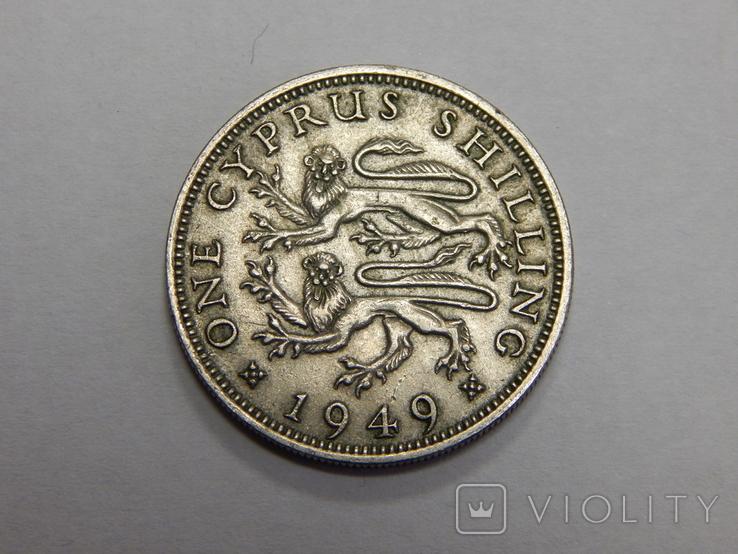 1 шиллинг, 1949 г Кипр, фото №2