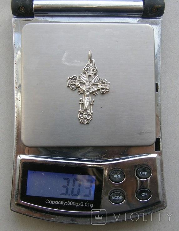 Крестик. Серебро. Вес - 3,03 г., фото №2