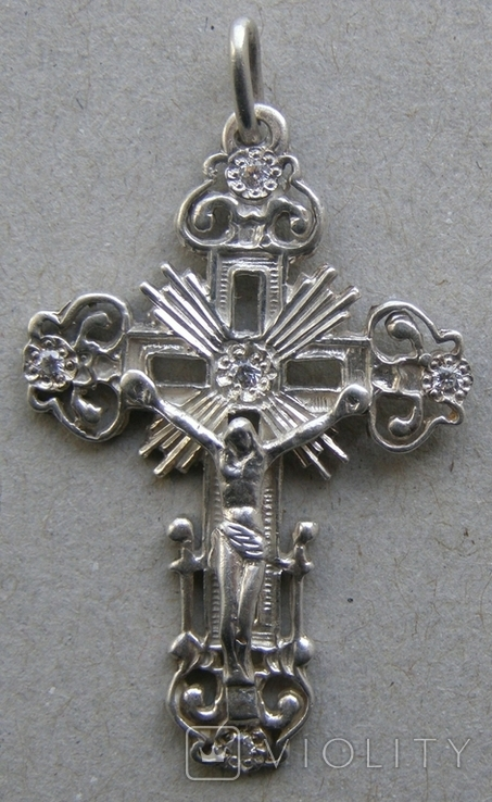 Крестик. Серебро. Вес - 3,03 г., фото №3