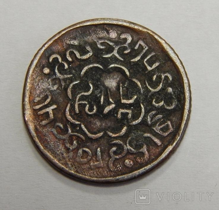 Медная монета старой Индии, фото №3