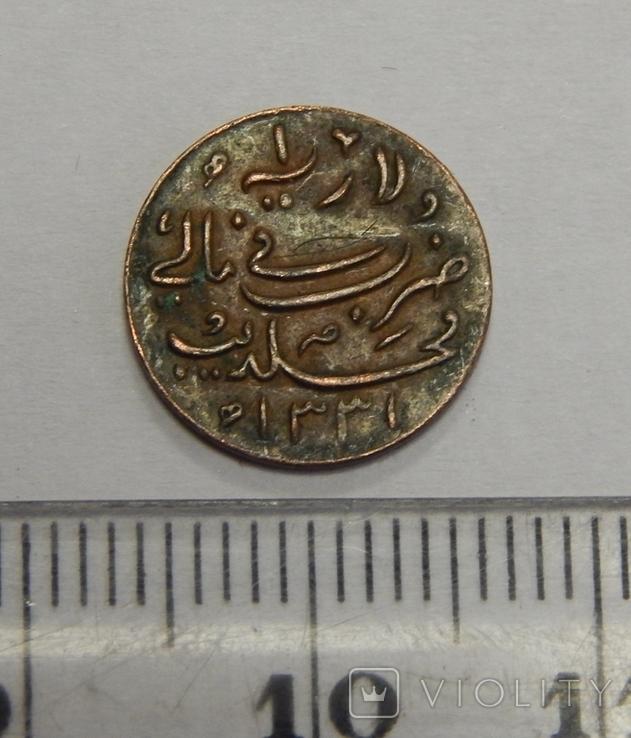 Медная монета британской Индии, фото №2
