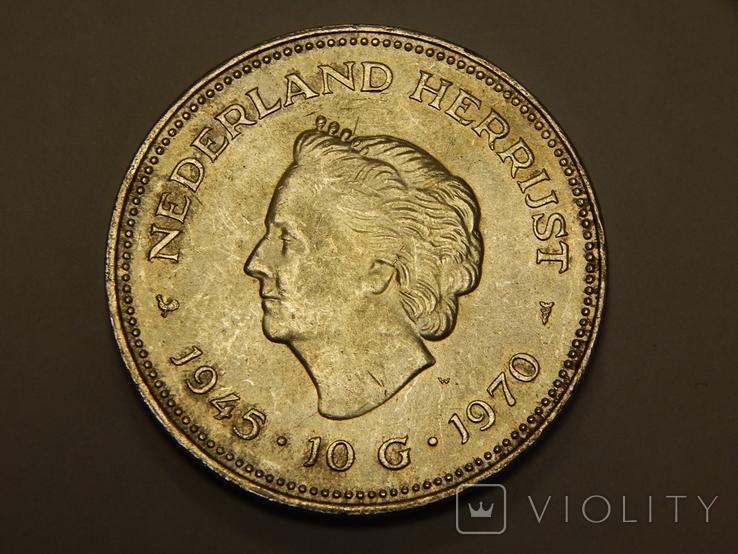 10 гульденов, 1970 г Нидерланды, фото №2