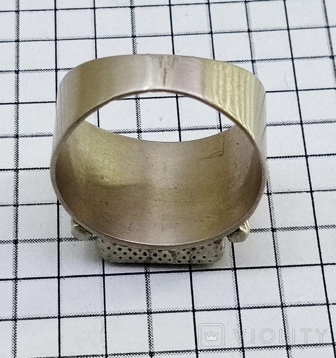 Перстень 8 грамм. Янтарь пейзажный, фото №9