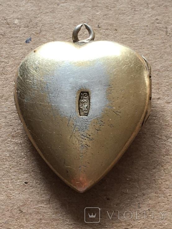Серебряный кулон с Изумрудом, фото №9
