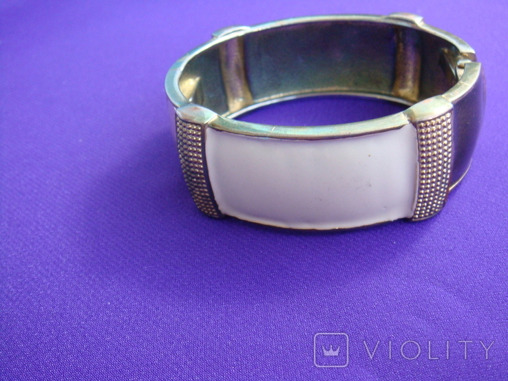 Широкий браслет эмаль бижутерия, фото №2