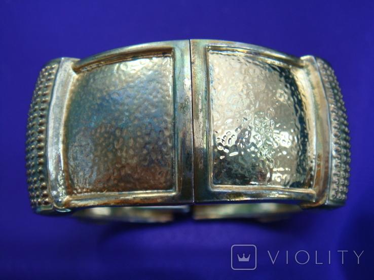 Широкий браслет эмаль бижутерия, фото №4