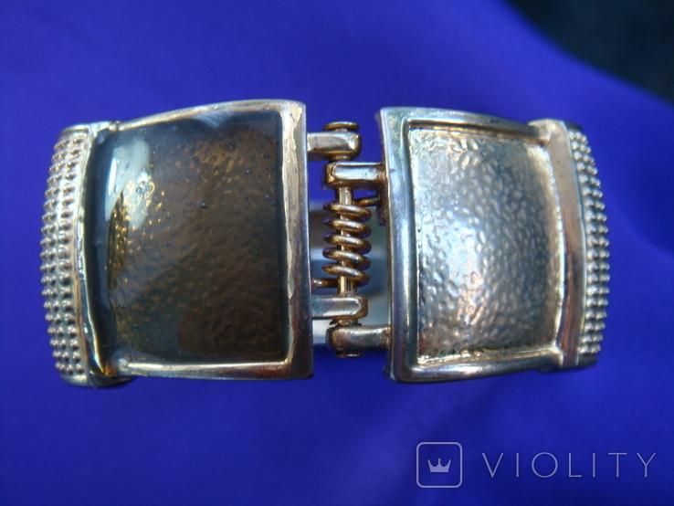 Широкий браслет эмаль бижутерия, фото №6