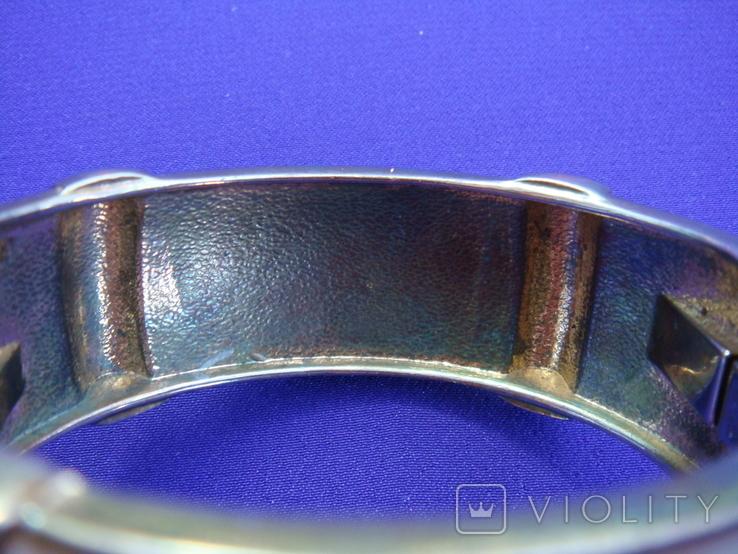 Широкий браслет эмаль бижутерия, фото №9