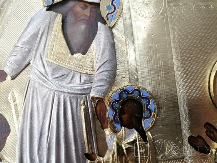 Икона  Введение во храм в серебряном окладе  84, фото №4