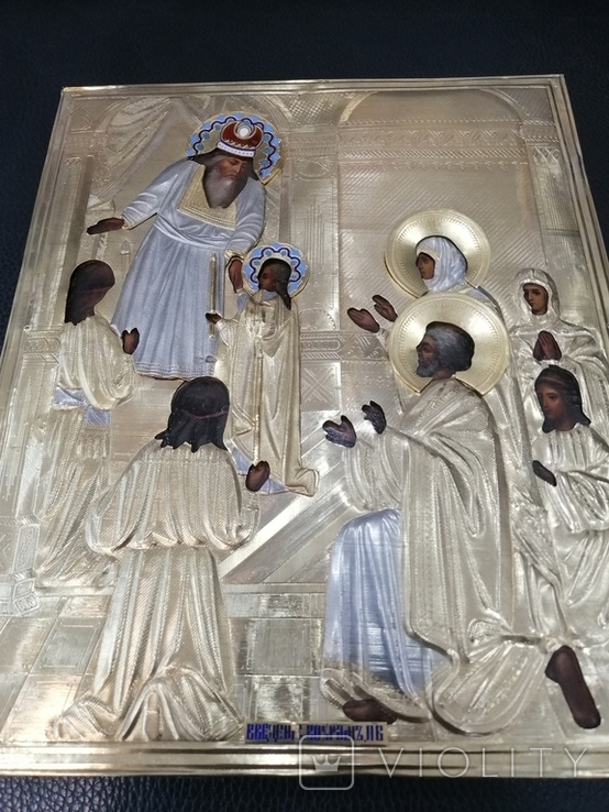 Икона  Введение во храм в серебряном окладе  84, фото №9