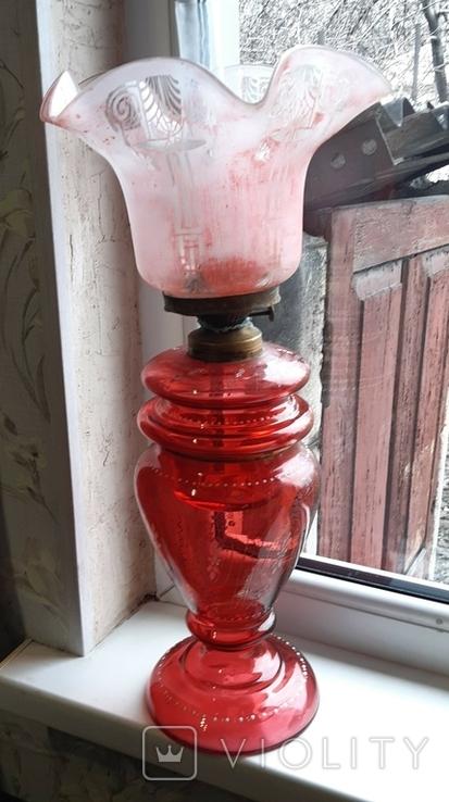 Керосиновая лампа 58 см начало 20 века, фото №3