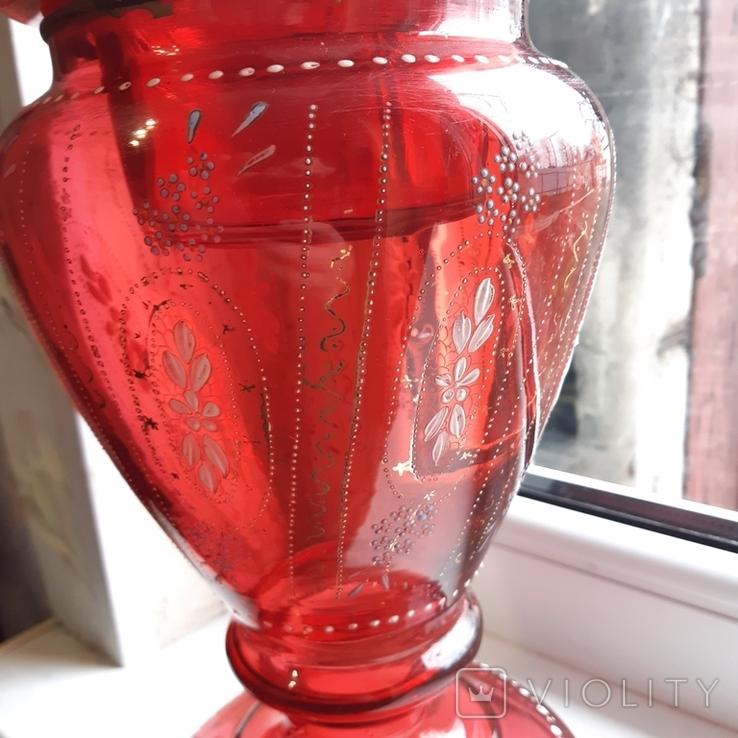 Керосиновая лампа 58 см начало 20 века, фото №4