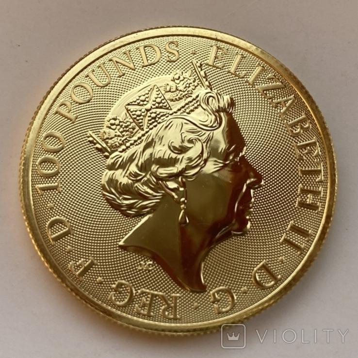 100 фунтов 2021 г. Британия (31,1 г. 999,9), фото №6