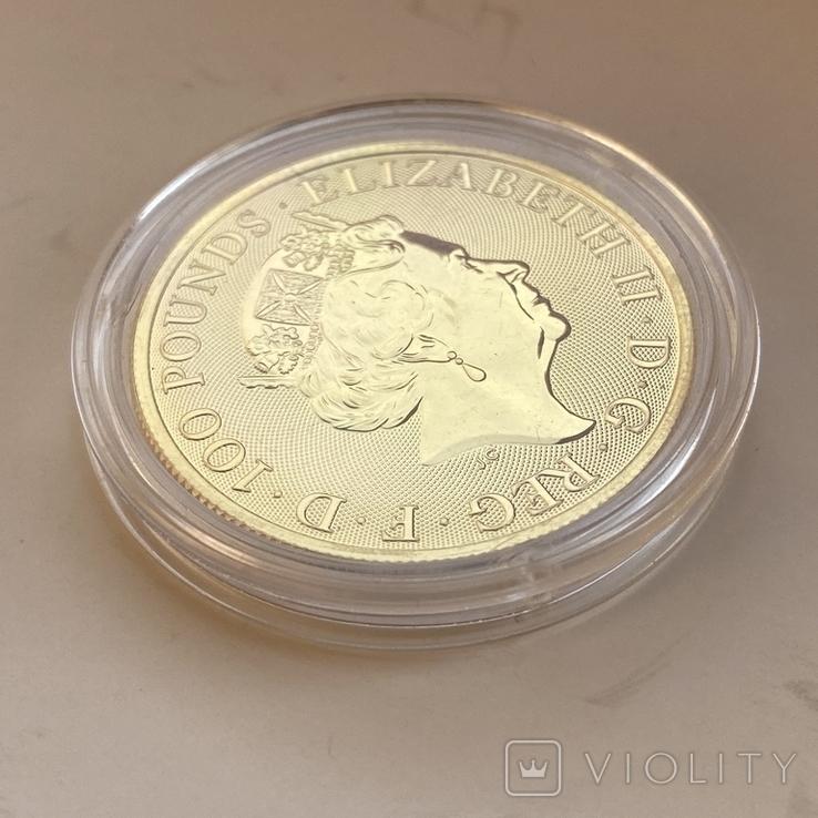 100 фунтов 2021 г. Британия (31,1 г. 999,9), фото №13