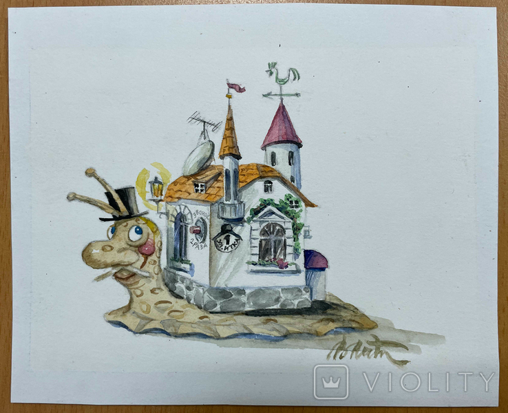"Карикатура М.С. Рябинина ""Улитка"", фото №2"