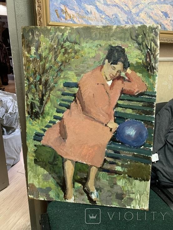 "Картина СССР ""После Парада"" 1960 е гг. Павлюк Альберт Семенович"